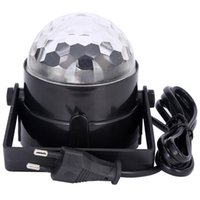3W Mini RGB LED Projecteur Eclairage DJ Light dance Disco Sound Vibreur vocal Crystal Magic Ball Bar Party Christmas Stage Lights Afficher DHL