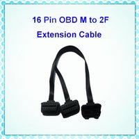 Wholesale Obd2 16 Pin Male - OBDII OBD2 OBD-II M to 2F Y Cables OBD 2 16 Pin Extension Male to Dual Female Splitter Extension Connector Cable