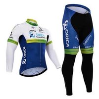 Wholesale Orica Greenedge Cycling Clothing - Super Sale 2015 Bicycle Clothing Vocational Long Sleeve orica Cycling Jerseys Cycle Roupa Ciclismo Wear new bests Greenedge