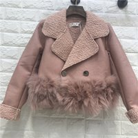 Faux Fur Coat Vera Faux Leather Fox Full 2017 Nuova Donna Jacket Pu Lamb Stitch Double-breasted Women
