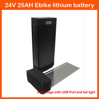 Wholesale 24v battery scooter - 700W 24V 25AH scooter battery 24V Rear rack electric bike lithium battery with 30A BMS 29.4V 3A charger High quality