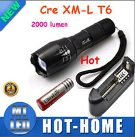 Wholesale Set Ultrafire - To snap up Cost Price 1 Set UltraFire E17 Touch Cree XM-L T6 2000 Lumen XML LED Light Zoomable Life Waterproof Flashlight , Free Shipping