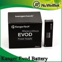 Wholesale Genuine T2 - Kanger evod battery 650mah 1000mah Fit for Kanger Evod  T2  T3s  MT3S   Protank Aerotank series Wholesale 100% Genuine Kanger evod battery
