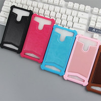 Wholesale Iphone Case Titanium - Universal TPU cover silicone phone Leather case for Archos 45 Helium 45 Titanium 45b Helium #3 Gophone Ring Stand Cellphone Cases