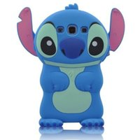 Wholesale Galaxy S3 Silicone Flip - Stylish Cartoon 3D Stitch Soft Silicone Case Cover With Movable Ear Flip Compatible With Samsung Galaxy S3 I9300