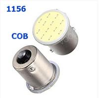 Wholesale Led 1156 12 - 50PCS 12 SMD LED COB Chips 1156 BA15s Car Auto RV Trunk urn Signal Lights Bulb Lamp DC12V Yellow Red White wholesale