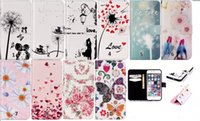 Wholesale Butterfly Flower Rose Heart - Butterfly Rose Dandelion Flower Lover Cellphone Covers Heart Wallet Leather For Iphone 6 6S 4.7   Plus 5.5   5 5S 5SE SE Card Stand Pouch