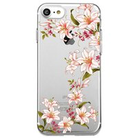 Wholesale iphone 6s silicone case for sale - Shaka Laka simulati lily Phone Clear shell health flowers Case For iPhone XR XS MAX S