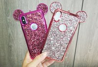 Luxe 3D Mickey Mouse Cas pour iPhone 6 6 S 7 Plus 5 5S 5SE Strass Glitter Bling Silicone Cas Coque Pour iPhone 7 Plus Couverture