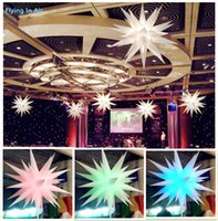 Wholesale inflatable party decoration star for sale - Group buy 2m Multicolored Lighting Inflatable Air Star for Event and Party Decoration