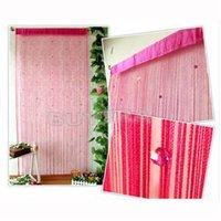 Wholesale Decorative Window Beads - 2014 New fancy Decorative String Curtain With Beads Door Trendy Window Curtain Room Divider