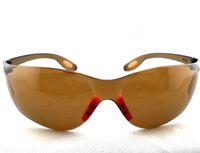 zweck braun großhandel-Brown-schützende Sicherheitsbrillen-Schutzbrillen-Mehrzweckglas-gemütlicher Wind-Staub-Kratzer-beständiger Blendschutz 10Pcs / Lot Freies Verschiffen