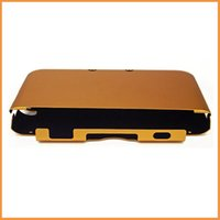 Cheap Wholesale-Free shipping game case for nintendo 3ds xl ll n3ds ll xl Orange Aluminum Box Hard Metal Cover Case