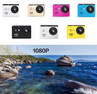 Wholesale Microsd Sale - Hot Sales 2 Inch LCD Screen Mini Sports Camera 1080P HD Action Camera 30M Waterproof Camcorders Helmet Sport Outdoor DV With Retail Package