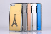 Wholesale 4s Eiffel - Eiffel Tower Case Metal Aluminium Alloy Eiffel Tower Cover for iPhone 4 4s 5 5s 6 6s Plus free DHL