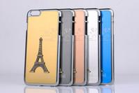 Wholesale iphone 5s aluminium - Eiffel Tower Case Metal Aluminium Alloy Eiffel Tower Cover for iPhone 4 4s 5 5s 6 6s Plus free DHL