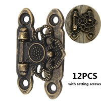 Wholesale Antique Hook Latch - 12X Antique Brass Decorative Jewelry Gift Wooden Box Hasp Latch Hook With Screws order<$18no track
