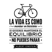 Wholesale life like - Wall Stickers In Spanish Home Decoration - LIFE IS LIKE A BICICLETA vinilo adhesivo de pared con texto albert einstein