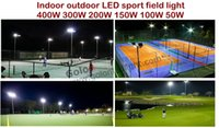 Éclairage de cour de sport d'intérieur de LED d'intérieur de prix bas pour le volleyball de tennis basket-ball de football terrain de golf étanche 150W 200W expédition libre