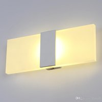 Wholesale Modern Mirror Sconce - LED Wall Light Living Sitting Room Foyer Bedroom Bathroom Modern LED Wall Sconce Round Square LED Acrylic Wall Lamp Led Mirror Light