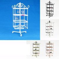 Wholesale Rotating Earrings Display - Wholesale High Quality Rotating Metal Earring Display Stand Holder Rack For 128 Holes