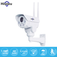 IP Camera wi-fi PTZ Bullet 4X Zoom 960P IP Speed ​​dome Project Night Vision exterior impermeável IP66 IRCUT ONVIF P2P Hiseeu