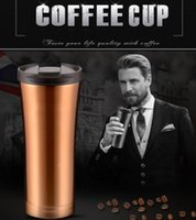 Tazze thermos in acciaio inox a doppia parete Tazze thermos in acciaio inox tazze da 500 ml Thermocup Fashion Tumbler Vacuum Flask Mugs
