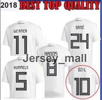 Wholesale football tshirt - 2018Germany Soccer Jerseys Muller Gotze Reus Kroos Draxler Neuer OZIL HUMMELS BOATENG SCHWEINSTEIGER Customize football tshirt Home jersey
