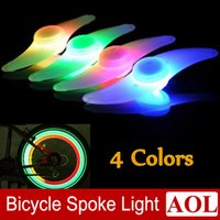 Wholesale Silicone Bike Light Wholesale - Hot Bike Bicycle LED Lights Motorcycle Electric car Wheels Spokes Lamp Silicone 4 colors flash alarm light cycle accessories Free Shipping