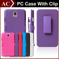 Silm Armor Impact Hybrid Hard PC Case + Зажим для ремня для клипсы Kickstand Combo Cover для iPhone 5 5S 6 Plus Galaxy S3 S4 S5 S6 S6 Edge Note 3 4
