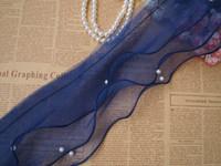 Wholesale Organza Lace Yard - Lace Three Layer Organza Lace Trim Flounced Lace Ribbon Accessories Dress Skirt Lace Fabric - 10 yards Lot - Free Shipping