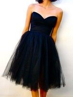 Wholesale Sweetheart Neckline Knee Length Dresses - Free Shipping Knee length Prom Dress 2017 cheap and simple Sweetheart neckline sleeveless in Formal Evening Gowns Special Occasion