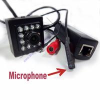 Wholesale covert camera ir resale online - 720P audio mini ir camera poe ip Smallest Night Vision mini ip camera Covert Network Onvif nm ir mini poe ip camera ir camera