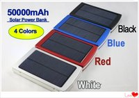Wholesale High Power Bank Solar - Wholesale - full capacity power bank 50000mah Emergency   Portable+high capacity 50000 mah solar charger free shipping fast home delivery