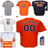 Wholesale Men Hoes - 2017 L.J. Hoes Jerseys Houston 0 Baseball Jerseys with (1965-2015) 50th Patch Stitched Coolbase Flexbase Jersey