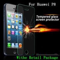 huawei c199 toptan satış-Huawei P8 P7 P6 için Temperli Cam Ekran Koruyucu Film G6 G7 C199 Onur 6 artı y300 y320 y550