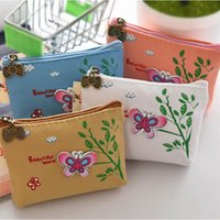 Wholesale Cute Key Pouch - Cute Style Fashion Change Pouch Key Holder Coin Purse Wallet Bag(Butterfly)