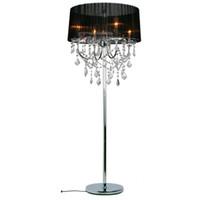 stoff kristall schlafzimmer lichter großhandel-Moderne kristall wohnzimmer stehleuchte europäischen stoff lampenschirm kristall hängen schlafzimmer bedsides kristall boden leuchten
