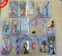 Wholesale Apple Tree Girl - Quicksand Glitter Hard PC Case Liquid Floating Star Tree Girl Dreamcatcher Cat Rabbit Clear for Iphone 6 plus 6S 4.7 5.5 5 5G 5S skin luxury