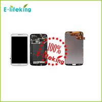 mega lcd großhandel-Ausgezeichnet für Samsung für Galaxie Mega 6.3 i527 i9205 i9200 Lcd Digitizer Bildschirm Montage grau oder weiß mit Rahmen Kostenloser Versand