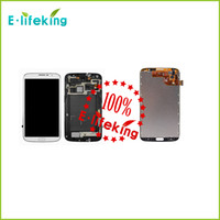 Wholesale Galaxy Mega Digitizer - Excellent For Samsung For Galaxy Mega 6.3 i527 i9205 i9200 Lcd Digitizer Display Screen Assembly Grey or white with Frame Free Shipping