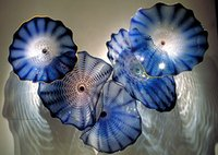 Wholesale Cheap Chihuly - Free Shipping OEM Mouth Blown Borosilicate Glass Dale Chihuly Craft Western Style Wall Art Cheap Glass Plate