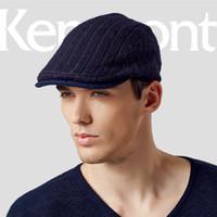 cf93261a056 Wholesale-Kenmont Men Male Autumn Winter Casual Wool Newsboy Cabbie Cap  Outdoor Peak Ivy Hat 2394
