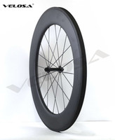 Wholesale U Wheels - 2017 NEW arriva! Velosa r13 88mm clincher tubular ,25mm width U shape rim Full carbon bike wheelset,,700C road bike wheel free shipping