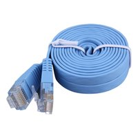 Nuovo 2M / 3M Cat5e RJ45 8P8C Super Slim cavo di rete LAN Flat Network Patch In magazzino!