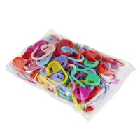 Wholesale Wholesale Stitch Markers - HIGH quality Plastic Markers Holder Needle Clip Craft 50pcs Mix Mini Knitting Crochet Locking Stitch 50pcs