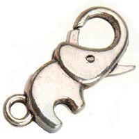 Wholesale flat metal hooks - jewelry findings lobster clasps hooks for bracelets woman handbags diy toggles elephants flat vintage silver metal 23mm fashion new 100pcs