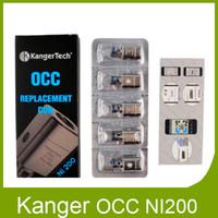 kangertech subtank nano original achat en gros de-Original Kanger Subtank OCC Bobine de sous-ohms NI200 0,15 Ohm Les bobines de détection de température NI 200 conviennent à Kangertech Subtank Plus Nano DHL gratuit 2211021