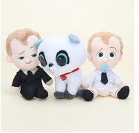 20Cm Filme The Boss Baby Lovely Baby Plush Stuffed Soft Dolls Brinquedo Gift fofos desenhos animados macios recheados Toy Dolls kids Gifts KKA3347