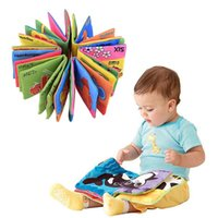 Wholesale Soft Cloth Books For Infants - Hot Baby Toy Infant Cloth Book Toys Doll Early Development Books Toy Learning & Education For 0-3Y Soft Unfolding animal books